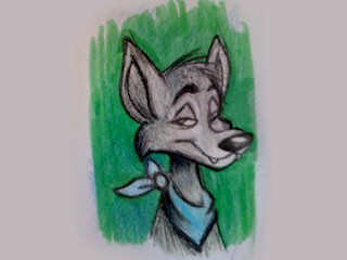 The first known image of Moabbey the Coyote.