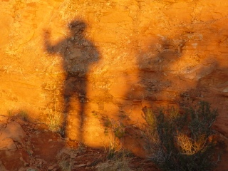 At sundown, the Other visits Upheaval Dome, Moab, Utah.