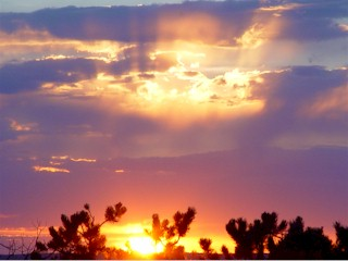 Sunset image, fromSunset View Campground, Navajo National Monument, Arizona