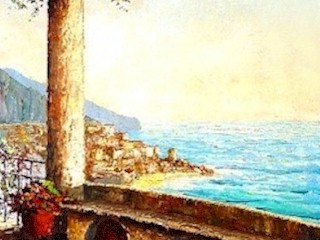 On the right-side is the Amalfi Coast terrace scene by Constantino Proietto.