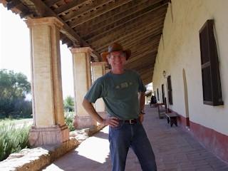 Jim, at Mission La Purisima, near Lompoc, CA