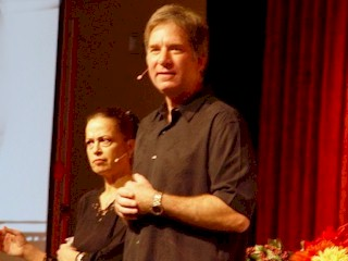 Jeffrey and Linda Hoppe inspiring new energy consciousness at the 2007 Quantum Leap Celebration, Taos, New Mexico.