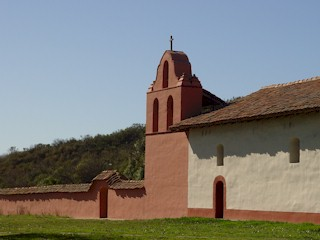 The bell tower at Mission La Purisima, near Lompoc, CA