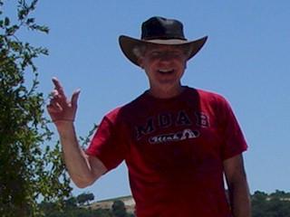 The author, Jim McGillis at Calcareous Vineyards, Paso Robles, California