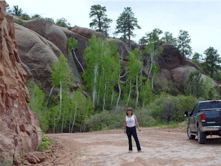 Image of Carrie at the Relict Forest, Manti la Sal National Forest, Moab, Utah