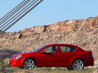 Red Chevy Cobalt sedan