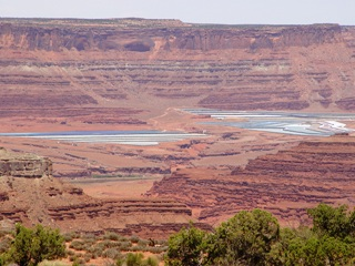 Evaporation ponds, above Potash and the Colorado River. Moab, UT
