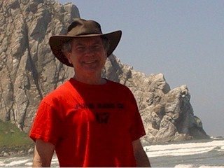 Image of Jim at the beach, Morro Rock, California