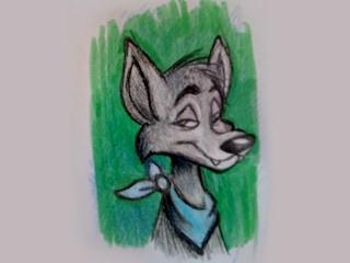 The only known image of Moabbey the Coyote