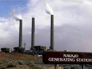 The Navajo Generating Station, a coal-fired power plant near Page, Arizona