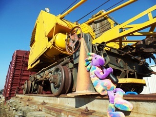 After the Burro Crane attained full size again, Coney and Kokopelli ride with the Burro Crane back to Seven Mile near Moab, Utah