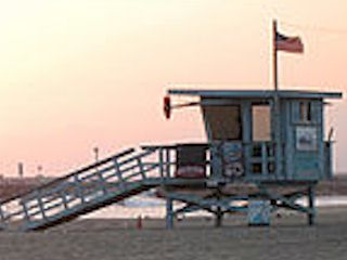 Lifeguard tower, Venice Beach, Los Angeles, California.