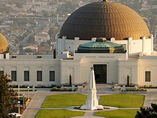 The Griffith Observatory, Los Angeles, California.
